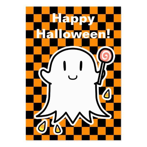 Tarjeta alegre de Halloween del fantasma (corrija  Tarjeta De Visita