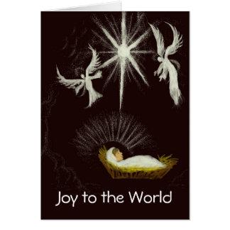 Tarjeta Alegría al navidad del personalizable del mundo