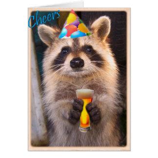 Tarjeta Alegría del mapache para cualquier ocasión del