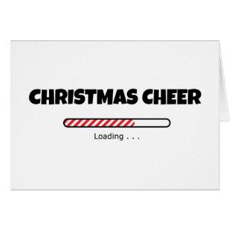 Tarjeta Alegría del navidad - barra del progreso -