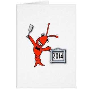 Tarjeta Alegrías del Año Nuevo de los cangrejos/de la