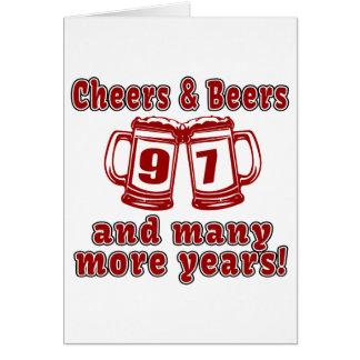 Tarjeta Alegrías y cervezas 97 diseños del cumpleaños