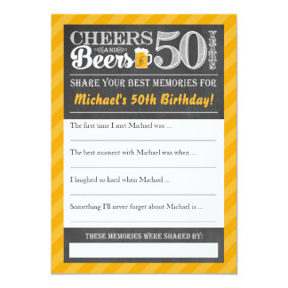 Tarjeta Alegrías y cervezas a 50 años • Comparta una