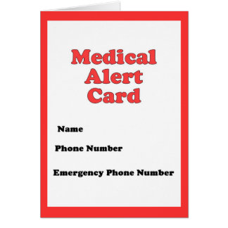 Tarjeta alerta médica