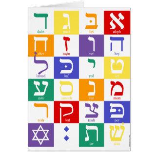 Tarjeta Alfabeto hebreo Notecard