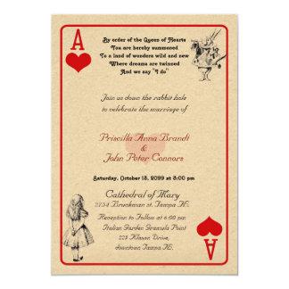 """Tarjeta """"Alicia de la invitación del boda en el"""