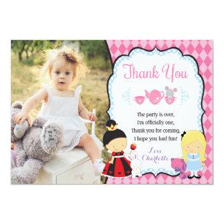 Tarjeta Alicia en el cumpleaños de ONEderland le agradece