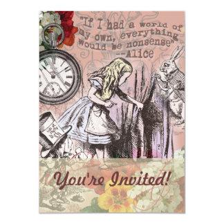 Tarjeta Alicia en la fiesta del té enojada Invitiation del