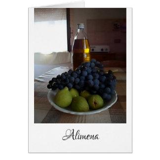 Tarjeta Alimena, Sicilia - cocina italiana del país