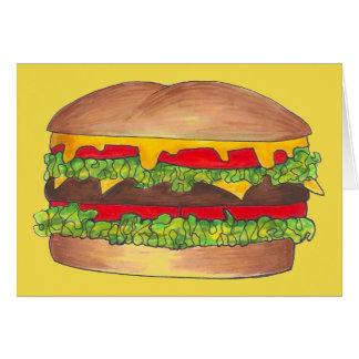Tarjeta Alimentos de preparación rápida del cheeseburger