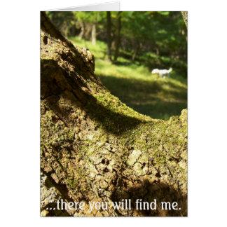 Tarjeta Allí usted me encontrará