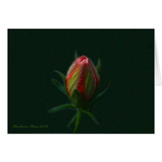 Tarjeta Alma de la flor-uno del hibisco del melocotón que