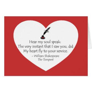 Tarjeta Alma de Shakespeare