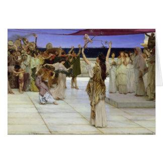 Tarjeta Alma-Tadema el | un esmero al Bacchus