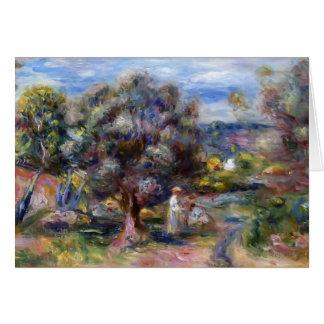 Tarjeta Áloe de Pedro-Auguste Renoir-, escogiendo en