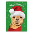 Tarjeta Alpaca linda de Navidad del paño grueso y suave en