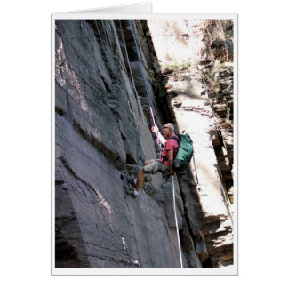 Tarjeta Alto escalador de rocas - confianza
