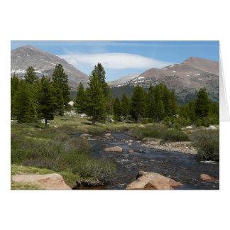 Tarjeta Alto parque de la corriente III Yosemite de la