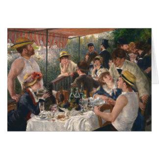 Tarjeta Alumerzo del vintage del fiesta del canotaje -