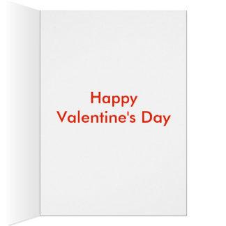 Tarjeta amada del el día de San Valentín