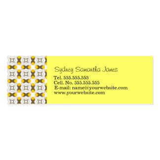 Tarjeta amarilla clara y de Brown retra del perfil Tarjeta De Visita