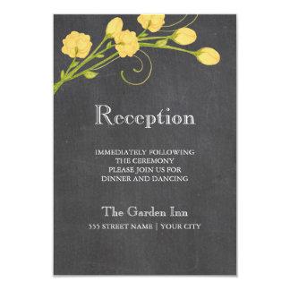 Tarjeta amarilla de la recepción de la pizarra de invitación 8,9 x 12,7 cm