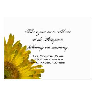 Tarjeta amarilla de la recepción nupcial del tarjetas de visita grandes