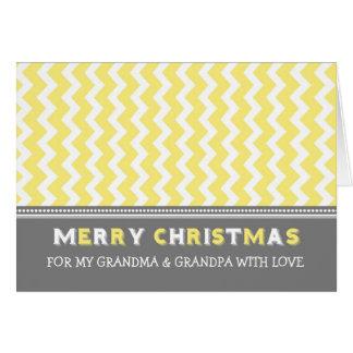 Tarjeta amarilla de las Felices Navidad de los abu
