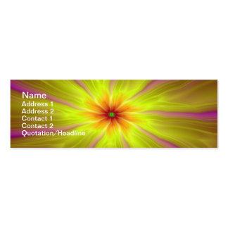 Tarjeta amarilla de las flámulas tarjetas de visita mini