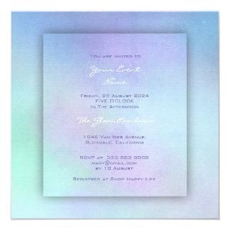 Tarjeta Amatista púrpura de la menta del océano de la