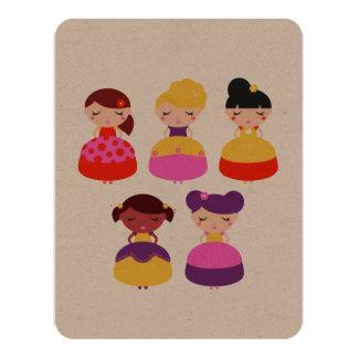 Tarjeta ambiental con la princesa invitación 10,8 x 13,9 cm