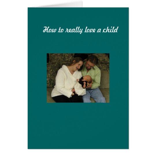 Tarjeta Ame a un niño