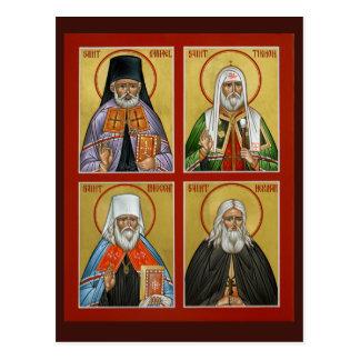 Tarjeta americana del rezo de los santos