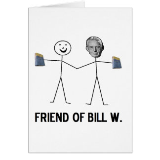 Tarjeta Amigo de Bill W. - celebre la recuperación