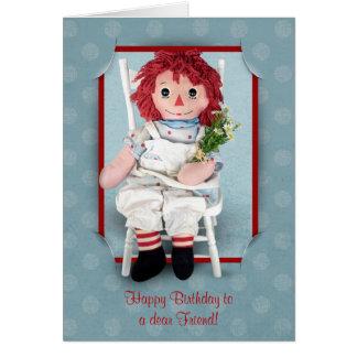 Tarjeta Amigo de la muñeca de trapo