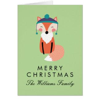 Tarjeta Amigo del Fox del día de fiesta de las Felices