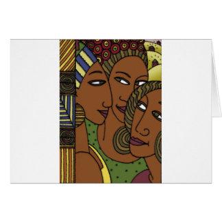 Tarjeta Amigos afroamericanos de la hermana de las mujeres
