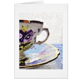 Tarjeta-Amistad floral del espacio en blanco de la Tarjeta Pequeña