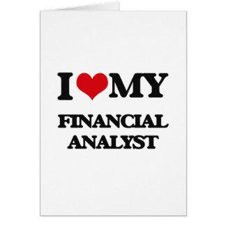 Tarjeta Amo a mi analista financiero