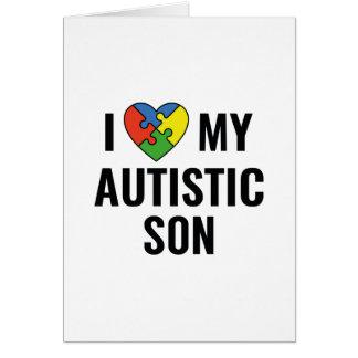Tarjeta Amo a mi hijo autístico