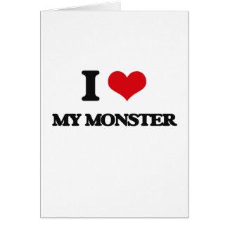 Tarjeta Amo a mi monstruo