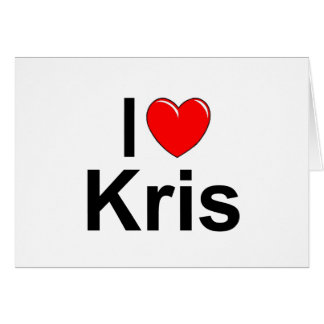 Tarjeta Amo (corazón) a Kris