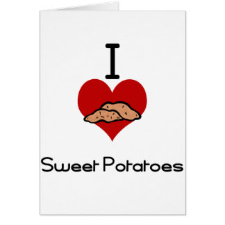 Tarjeta Amo (corazón) las patatas dulces
