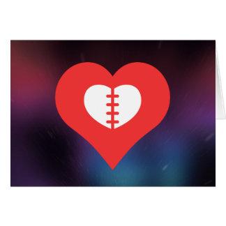 Tarjeta Amo diseño de las cirugías de corazón