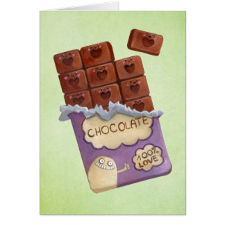 Tarjeta Amo el chocolate