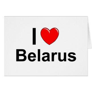 Tarjeta Amo el corazón Bielorrusia