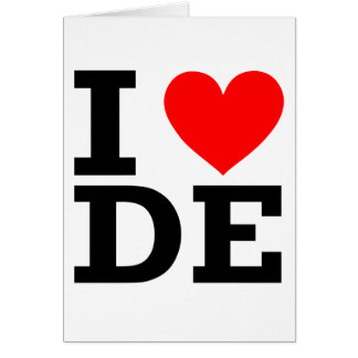 Tarjeta Amo el diseño de Delaware