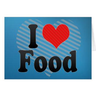 Tarjeta Amo la comida