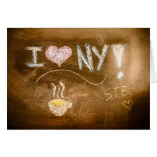 Tarjeta Amo la declaración de la pizarra de NY