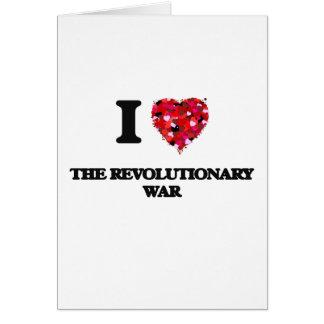 Tarjeta Amo la guerra revolucionaria